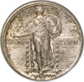 Errors, 1929-S Standing Liberty Quarter--Broadstruck Out of Collar--MS62 PCGS....