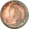 Bust Dimes, 1821 10C Large Date MS66 NGC....