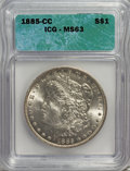 1885-CC $1 MS63 ICG. NGC Census: (1656/4722). PCGS Population (3822/10744). Mintage: 228,000. Numismedia Wsl. Price for...
