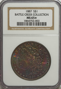 1887 $1 MS65 ★ NGC. Ex:Battle Creek Collection. NGC Census: (20284/2985). PCGS Population (13201/1237). Mintage: 20,29...