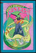 "Movie Posters:Animated, Fantasia (Buena Vista, R-1970 and R-1990). One Sheet (27"" X 41"")and Program (Multiple Pages, 11"" X 13.5""). Animated.. ... (Total: 2Items)"