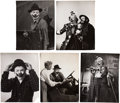 Movie/TV Memorabilia:Photos, James Stewart Vintage The Greatest Show on Earth Clown Photos.... (Total: 5 Items)