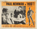 Movie/TV Memorabilia:Autographs and Signed Items, Paul Newman Signed Hud Lobby Card....