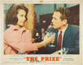 Movie/TV Memorabilia:Autographs and Signed Items, Paul Newman Signed The Prize Lobby Card....