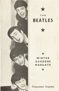 Music Memorabilia:Memorabilia, Beatles Winter Gardens Concert Program, 1963....