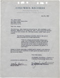Music Memorabilia:Autographs and Signed Items, Miles Davis Signed Contract....