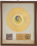 Music Memorabilia:Awards, Elton John Tumbleweed Connection RIAA Gold Album Award....