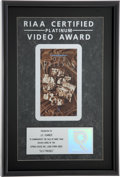 Music Memorabilia:Awards, Elvis Presley Related - J.D. Sumner's Old Friends RIAAPlatinum Video Award....