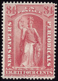 Stamps, 1875 Special Printing, 84c Pale Rose (PR46),...