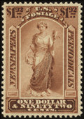 Stamps, 1879, $1.92 Pale Brown (PR71),...