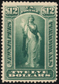 Stamps, 1879, $12 Yellow Green (PR75),...