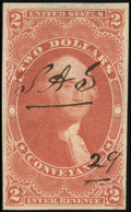 Stamps, 1862-71 First Issue, $2 Conveyance, imperf (R81a),...