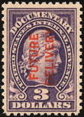 Stamps, 1918-34 Future Delivery, $3 Red On Violet (RC12),...