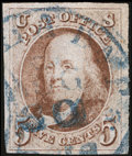 Stamps, 5c Red Brown (1),...