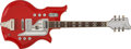 Musical Instruments:Electric Guitars, Randy Bachman-owned National Glenwood 99 Red Electric Guitar (c.1965)....