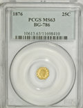 California Fractional Gold: , 1876 25C Indian Octagonal 25 Cents, BG-786, Low R.6, MS63 PCGS.PCGS Population (6/8). NGC Census: (1/0). (#10613)...