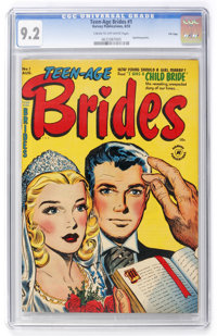 Teen-Age Brides #1 File Copy (Harvey, 1953) CGC NM- 9.2 Cream to off-white pages