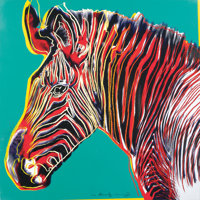 ANDY WARHOL (American, 1928-1987) Grevy's Zebra, 1983 Published in the portfolio Endangered Speci