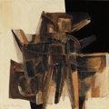 Fine Art - Painting, American:Contemporary   (1950 to present)  , CLAUDE RONALD BENTLEY (American, 1915-1990). Untitled (AbstractComposition). Mixed media on masonite. 24 x 24 inches (6...
