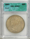Coins of Hawaii: , 1883 $1 Hawaii Dollar AU53 ICG. NGC Census: (12/134). PCGSPopulation (25/154). Mintage: 500,000. (#10995)...