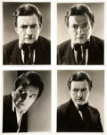 Movie/TV Memorabilia:Photos, Claude Rains The Mystery of Edwin Drood Photo Portraits byRoman Freulich. ... (Total: 4 Items)