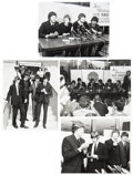 Music Memorabilia:Photos, The Beatles at LAX in 1964 Vintage Photos.... (Total: 4 Items)