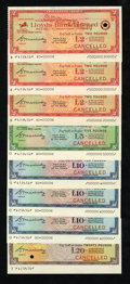 Miscellaneous:Other, Lloyds Bank Limited Specimen Travelers Checks.. ... (Total: 8items)