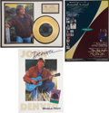 "Music Memorabilia:Memorabilia, John Denver ""Take Me Home, Country Roads"" Gold Single Display....(Total: 3 Items)"