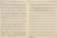 "Duke Ellington ""Million Years,"" 2-page Handwritten Score (undated)"