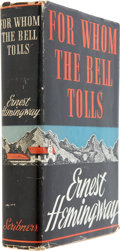 Books:First Editions, Ernest Hemingway. For Whom the Bell Tolls. New York: CharlesScribner's Sons, 1940. First edition with first iss...