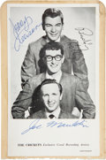 Music Memorabilia:Autographs and Signed Items, Buddy Holly and the Crickets Signed Photo....