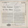 Music Memorabilia:Autographs and Signed Items, Folk Festival of Blues Musician Signed Album....