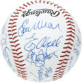 Autographs:Baseballs, 1996 Baseball Hall of Famers & Stars Multi-Signed Baseball.Nothing but 10/10 autographs here, acquired by a fan at the 199...