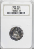 Proof Seated Quarters: , 1879 25C PR63 NGC. NGC Census: (47/156). PCGS Population (73/102).Mintage: 1,100. Numismedia Wsl. Price for NGC/PCGS coin ...