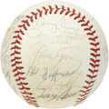 Autographs:Baseballs, 1979 Toronto Blue Jays Team Signed Baseball. Twenty-six autographsfill every inch of this OAL (MacPhail) ball, with featur...