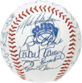 Autographs:Baseballs, 1991 Houston Astros Team Signed Baseball. The Killer B's, Biggioand Bagwell, make this non-official ball a winner for any ...