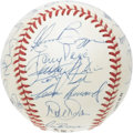 Autographs:Baseballs, 1992 Cincinnati Reds Team Signed Baseball. All the top Reds arepresent and accounted for upon this ONL (White) ball: O'Nei...