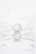 Music Memorabilia:Original Art, Storm Thorgerson Pink Floyd Interstellar Paris ExhibitionConcept Sketch (2003)....