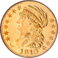 Early Half Eagles, 1810 $5 Large Date, Large 5 AU55 PCGS....