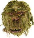 Movie/TV Memorabilia:Props, Harry Thomas The Green Ogg Alien Mask....