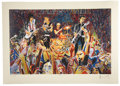 Music Memorabilia:Original Art, Rolling Stones Related - Silk Screen Print by Ronnie Wood....