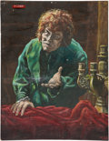 Movie/TV Memorabilia:Original Art, Lon Chaney as the Hunchback of Notre Dame Concept Painting....