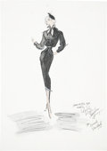 Movie/TV Memorabilia:Original Art, Beverly Garland Costume Sketch by Edith Head....