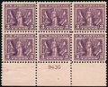 Stamps, 3c Deep Red Violet (537a),...