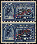 "Stamps, 10c Blue, Bandholtz ""OB"" Overprint in Red (E1var),..."