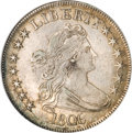 Early Half Dollars, 1806 50C Pointed 6, Stem AU55 NGC....