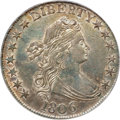 Early Half Dollars, 1806 50C Pointed 6, No Stem AU55 PCGS. CAC....