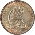 Seated Half Dollars, 1842 50C Small Date, Large Letters MS63 NGC....