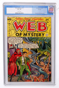 Golden Age (1938-1955):Horror, Web of Mystery #13 River City pedigree (Ace, 1952) CGC VF+ 8.5Off-white pages....