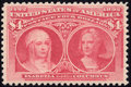Stamps, $4 Crimson Lake (244),...